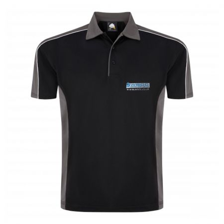 Two Tone Polyester Wicking Polo with WSCC Logo