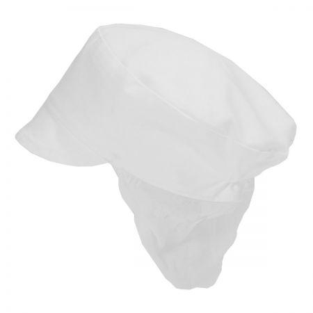 Poly/Cotton Snood Cap White (DG42)