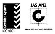 Certified System ISO 9001, JAS-ANZ